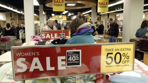 Un commerce américain durant le Black Friday