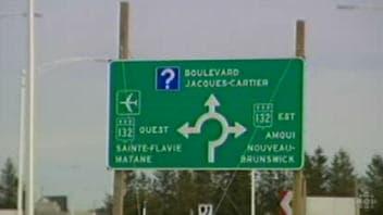 Affiche de l'autoroute 20