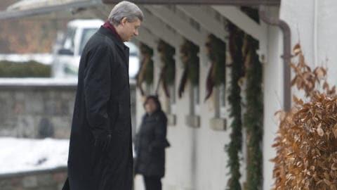 Le premier ministre à son arrivée à Rideau Hall.