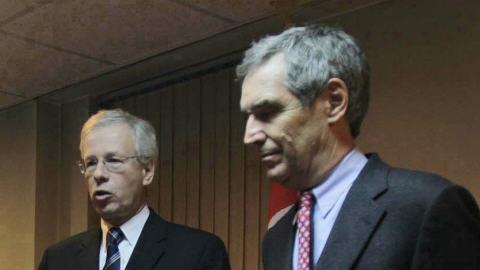 Michael Ignatieff (à droite) et Stéphane Dion
