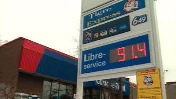 Le litre d'essence est vendu à 91 ¢ à Montréal