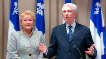 Pauline Marois et Gillles Duceppe