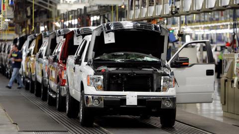 Une chaîne de montage chez Ford