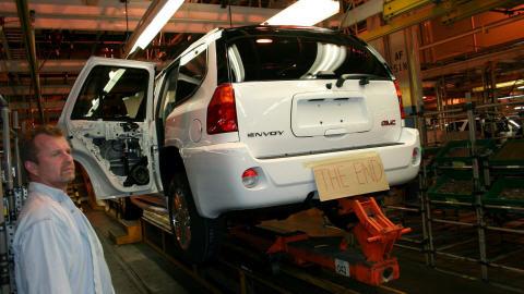 Une chaîne de montage de VUS chez General Motors