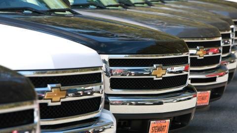 Des véhicules fabriqués par GM