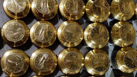 Des pièces d'argent canadiennes