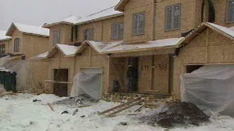 Des maisons en construction