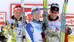 Tobias Angerer, Sami Jauhojaervi et Alex Harvey