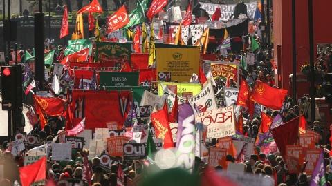 Marche altermondialiste à Londres