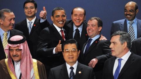 Stephen Harper était absent à la photo de famille des leaders du G-20.