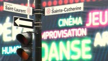 Panneau St-Laurent/Ste-Catherine