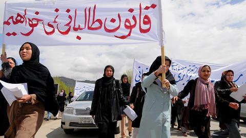 Des manifestantes à Kaboul