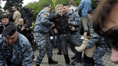Manifestants gais arrêtés