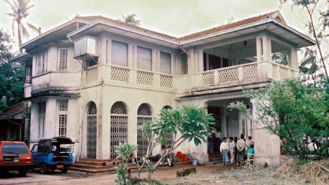 La maison d'Aung San Suu Kyi, à Rangoon.