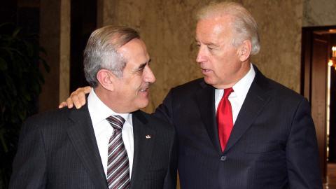 Le vice-président américain Joe Biden et le président libanais Michel Sleiman