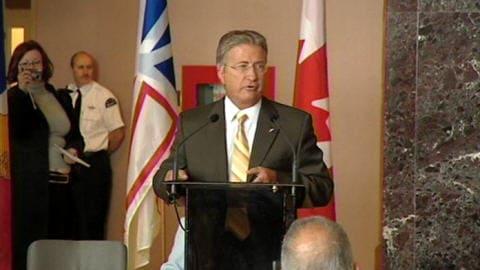 Le premier ministre Danny Williams