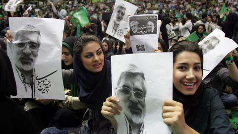 Rassemblement politique du candidat Mir Hossein Mousavi
