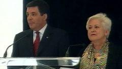 M. Labonté et Mme Harel en conférence de presse.