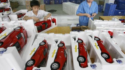 Usine de jouets en Chine