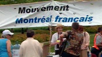 Manifestation du Mouvement Montréal Français