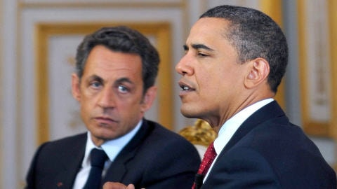 Nicolas Sarkozy et Barack Obama
