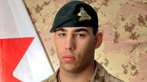 Le soldat Alexandre Péloquin, du 3e bataillon du Royal 22e Régiment