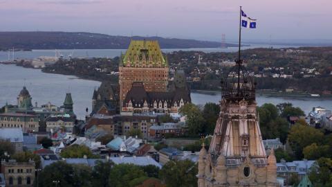 Le Vieux-Québec, avec le Château Frontenac et l'hôtel du Parlement