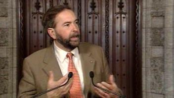 Thomas Mulcair, du Nouveau Parti démocratique