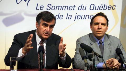 François Legault, en septembre 1999, alors ministre du gouvernement de Lucien Bouchard