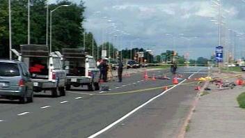 La scène de l'accident