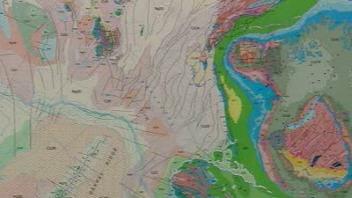 La carte géologique de l'Arctique (détail)