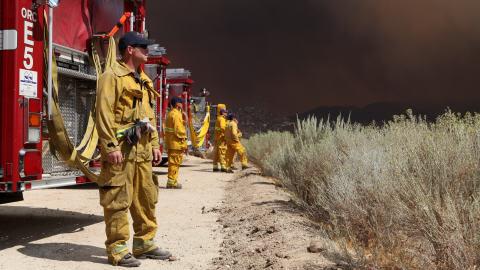 Des pompiers en Californie