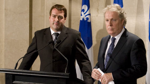 David Whissell et Jean Charest
