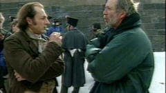 Luc Picard et Pierre Falardeau, lors du tournage de 15 février 1839.