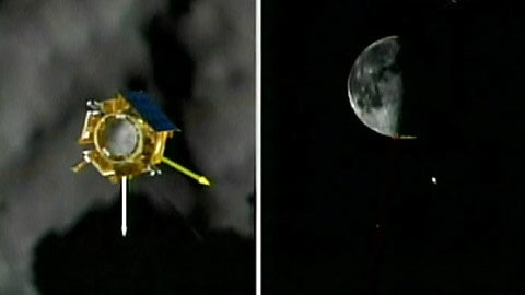 Approche du module LCROSS vers la Lune