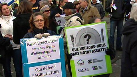 Les agriculteurs manifestent en ville