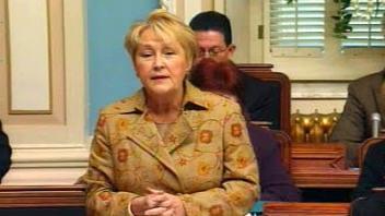 Pauline Marois lors des débats à l'Assemblée nationale