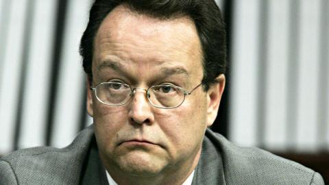 Alain Renaud, ancien démarcheur de Groupaction, lors de son témoignage à la commission Gomery, en avril 2005