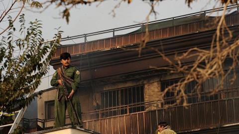 Un petit hôtel destiné aux ressortissants de l'ONU a été la cible d'une violente attaque