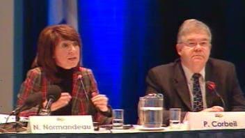 Les ministres Nathalie Normandeau et Pierre Corbeil