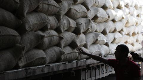 Sacs de café au Venezuela