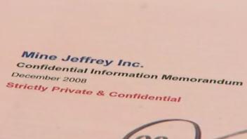 Des documents confidentiels de Mine Jeffrey