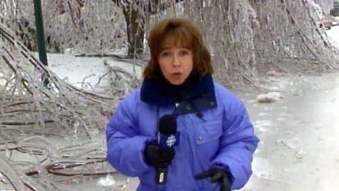 Martine Biron lors de la crise du verglas