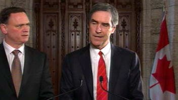 Le député libéral David McGuinty et le chef libéral Michael Ignatieff
