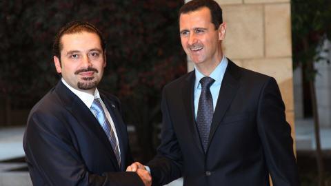 Saad Hariri et Bachar Al-Assad