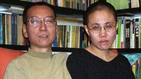 Le dissident chinois Liu Xiaobo et sa femme, Liu Xia