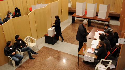 Un bureau de vote en Croatie