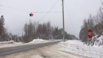 L'intersection du chemin Curtis et de l'autoroute 55