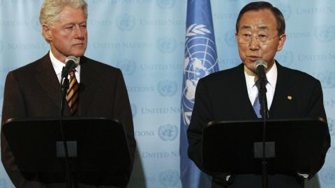 Bill Clinton et Ban Ki-Moon