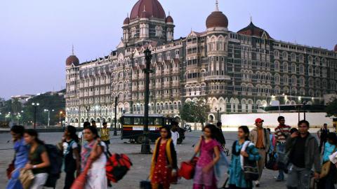 L'hôtel Taj Mahal à Mumbai, en Inde